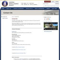Contact CIA