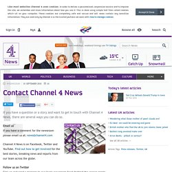 Contact Channel 4 News