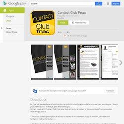 Contact Club Fnac