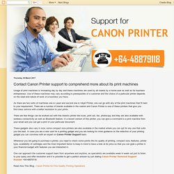 canon: Contact Canon Printer support to comprehend more about its print machines