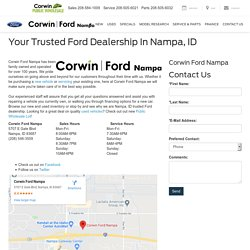 Ford Dealership in Nampa, ID