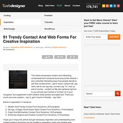 IDEABOX - ContactForm - 91 Trendy Contact And Web Forms For Creative Inspiration | Graphic and ...