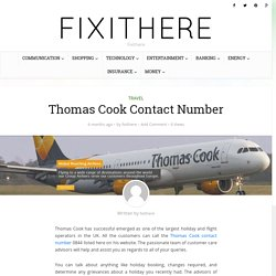 Thomas Cook Contact Number - Thomas Cook Customer Service