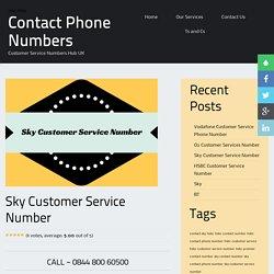 Sky Contact Number
