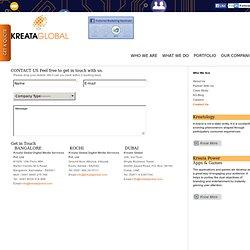 Contact Us - Kreata Global Digital Media Services