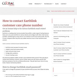 How to contact Earthlink customer care phone number