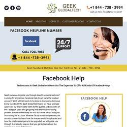 Contact 1-844-738-3994 Facebook Helpline Number