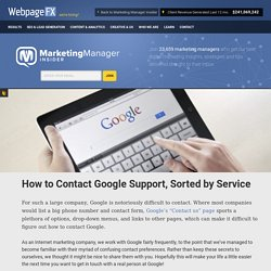 How to Contact Google Support, Sorted by Service