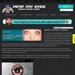 Crazy Contact Lenses - Special effect and cheap halloween contact lenses