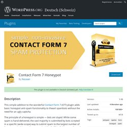 Contact Form 7 Honeypot — WordPress Plugins