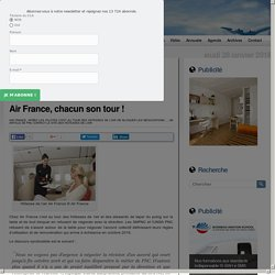 PNC Contact le site des hôtesses de l'air – Air France, chacun son tour !
