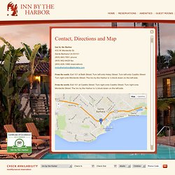 Santa Barbara Hotel Group - Contact the Inn by the Harbor in Santa Barbara, California