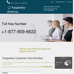 Kaspesrky Support Phone Number 1-877-909-6622