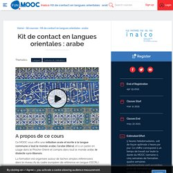 Kit de contact en langues orientales : arabe