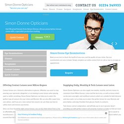 Contact Lenses & Toric Lenses In Milton Keynes & Luton - Simon Donne