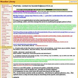 iPad help - contact me lwunderlin - Woodlan Library