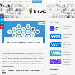 Best Contact Management Software of 2019