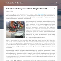 Contact Phoenix Control Systems for Robotic Milling Installation in UK