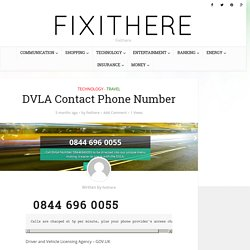 844 385 1100 - DVLA Contact Phone Number