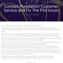 Contact Playstation Customer Service and Fix The PS4 Issues - brandme.io