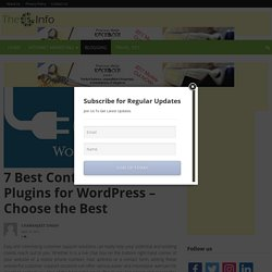 7 Best Contact Form Plugins for WordPress – Choose the Best