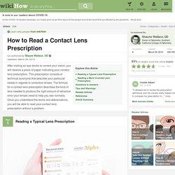 How to Read a Contact Lens Prescription: 12 Steps