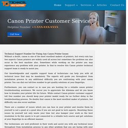 Contact Canon Printer Customer Service and Help Desk Number