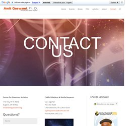 Contact - Center for Quantum Activism
