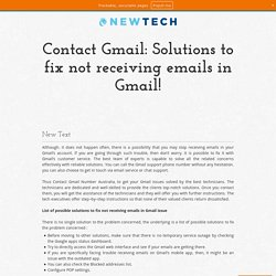 Contact Gmail: Solutions to fix not receiving emails in Gmail!