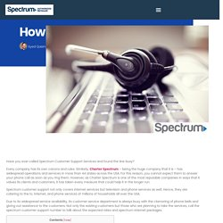 How To Contact Spectrum Customer Support In No Time? - Spectrum