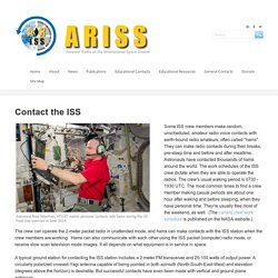 Contact the ISS - ARISS