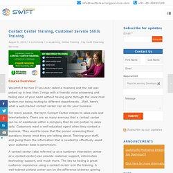 Contact Center Training, Customer Service Skills Training