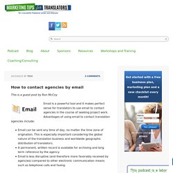 How to contact translation agencies by email