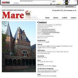 Colofon MARE - Leids Universitair Weekblad