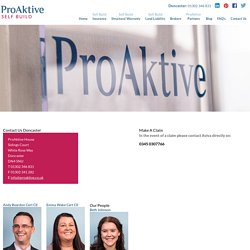 How to Contact ProAktive Selfbuild For Renovation Insurance policies