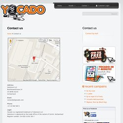 Contact us - YOCADO