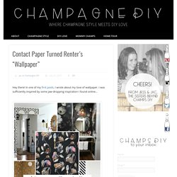 "Contact Paper Turned Renter's ""Wallpaper"" - Champagne DIY"