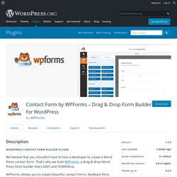 Contact Form by WPForms – Drag & Drop Form Builder for WordPress – WordPress plugin