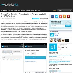 ContactBox: Privately Share Contacts Between Android And iOS Devices