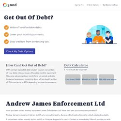 Contacted by Andrew James Enforcement Ltd? Act Now to Stop Bailiffs!