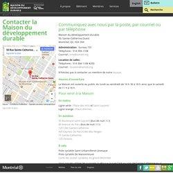 Contacter la Maison du développement durable