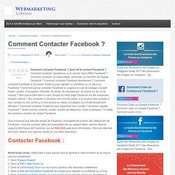 ▶ Contacter Facebook : Emails, Téléphones, Adresses [Mis à Jour]