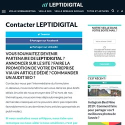 Contacter LEPTIDIGITAL
