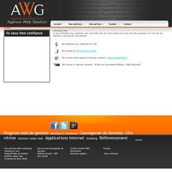 Contacter la société AWG par téléphone ou par formulaire en ligne