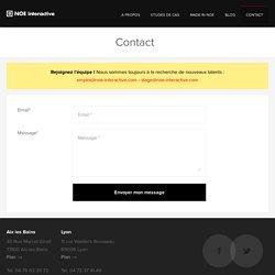 Contactez NOE interactive, pour un projet web, mobile & more ou pour postuler !