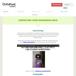 Contacting Your Sponsored Child