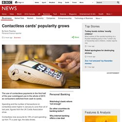 Contactless cards' popularity grows