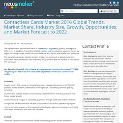 Contactless Cards Market 2016 Global Trends, Market Share, Industry Size, Growth, Opportunities, and Market Forecast to 2022