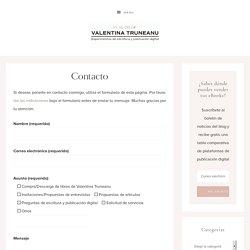 Contacto - El blog de Valentina Truneanu