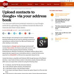Upload contacts to Google+ via your address book | Digital Media